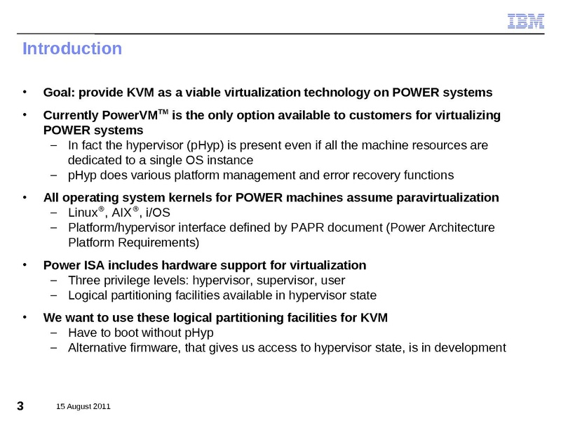 File:2011-forum-KVM on the IBM POWER7 Processor pdf - KVM