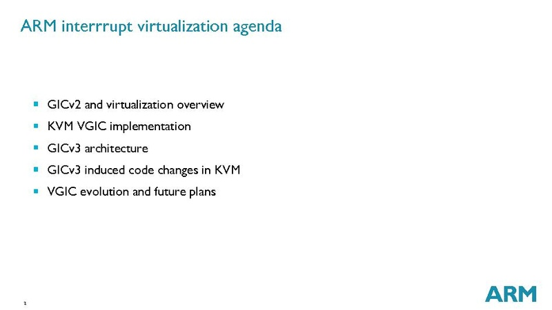 ARM® Interrupt Virtualization
