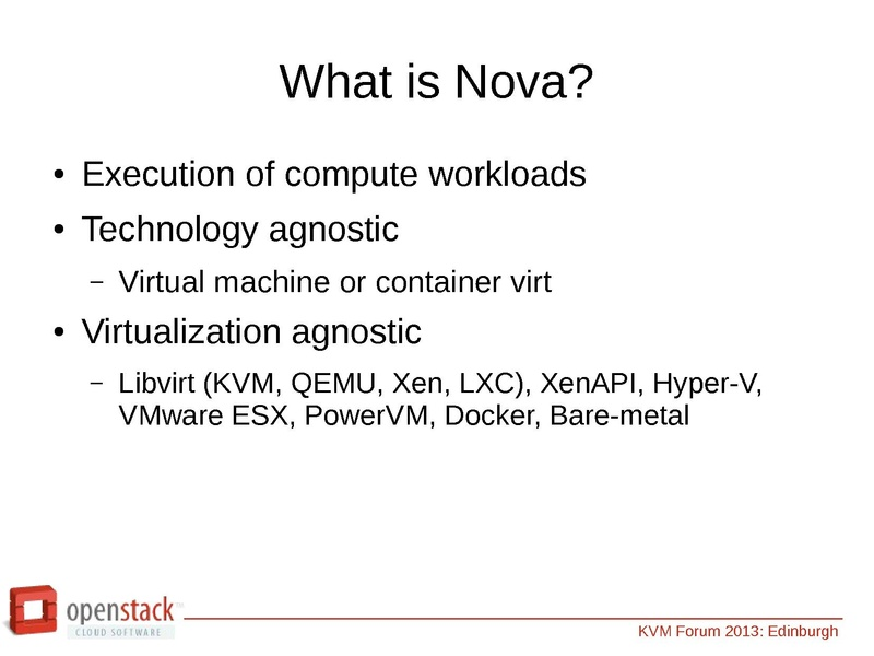 An Introduction to OpenStack and its use of KVM